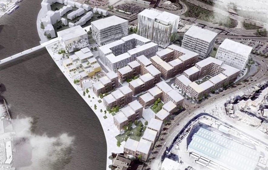 A computer generated image of what the redevelopment could look like